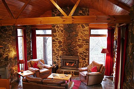 Studio Livingroom with Wood Fire